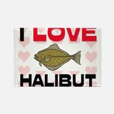 I Love Halibut Rectangle Magnet