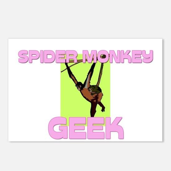 Spider Monkey Geek Postcards (Package of 8)