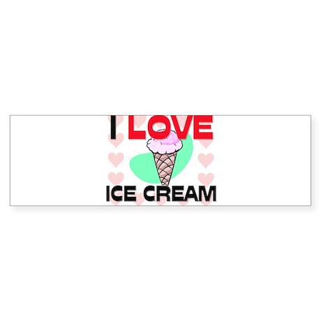 I Love Ice Cream Bumper Sticker
