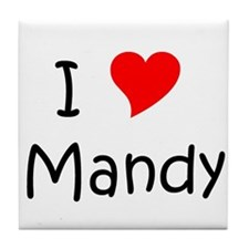 Cute I love mandy Tile Coaster