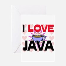 I Love Java Greeting Card