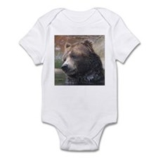 Grizzly Bear Cute Face Infant Creeper