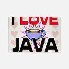I Love Java Rectangle Magnet
