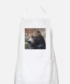 Grizzly Bear Cute Face BBQ Apron