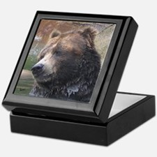 Grizzly Bear Cute Face Keepsake Box