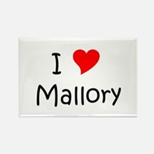 Cute Mallory Rectangle Magnet