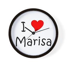 Cute I love marisa Wall Clock