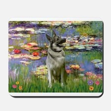 Lilies & Elkhound Mousepad
