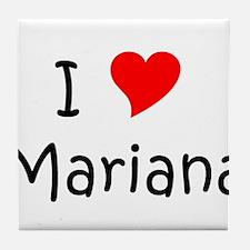 Cute Mariana Tile Coaster