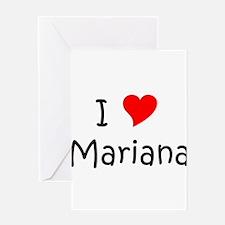 Cute Mariana Greeting Card
