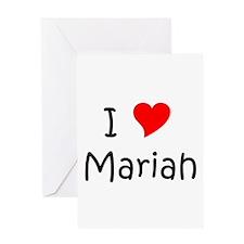 Cool Mariah Greeting Card