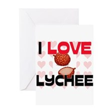 I Love Lychee Greeting Card