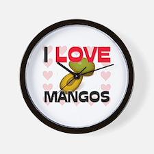 I Love Mangos Wall Clock