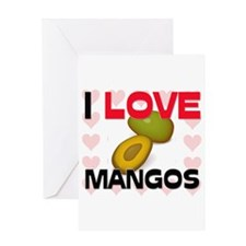 I Love Mangos Greeting Card