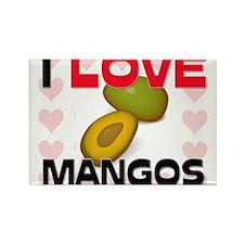 I Love Mangos Rectangle Magnet
