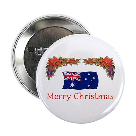 """Australia Merry Christmas 2.25"""" Button"""