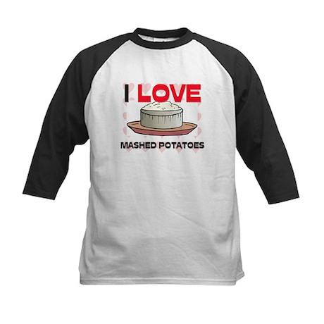 I Love Mashed Potatoes Kids Baseball Jersey