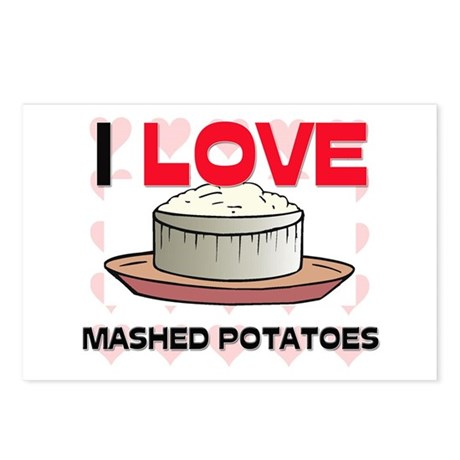 I Love Mashed Potatoes Postcards (Package of 8)