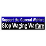 Stop Waging Warfare (bumper sticker)