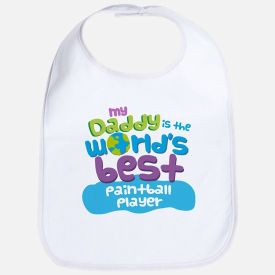 Paintball Player Gifts for Kids Baby Bib