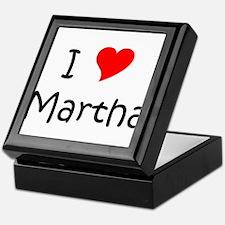 Unique Martha Keepsake Box