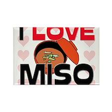 I Love Miso Rectangle Magnet