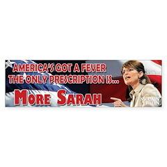 Palin Fever Bumper Sticker