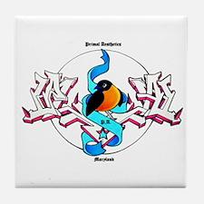 Graffiti Bird Tile Coaster