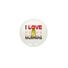 I Love Mustard Mini Button (10 pack)
