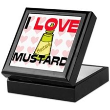 I Love Mustard Keepsake Box
