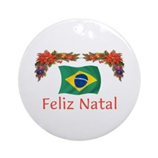 Brazil Feliz Natal 2 Ornament (Round)