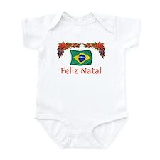 Brazil Feliz Natal 2 Onesie