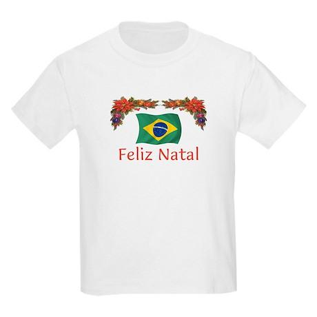 Brazil Feliz Natal 2 Kids Light T-Shirt