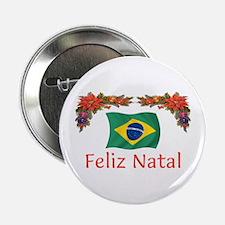 "Brazil Feliz Natal 2 2.25"" Button"