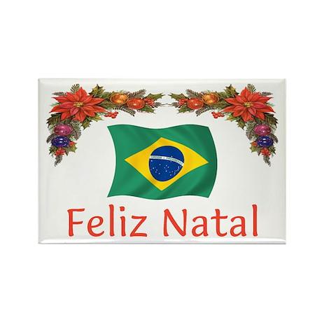 Brazil Feliz Natal 2 Rectangle Magnet (10 pack)