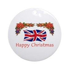 British Happy Christmas Ornament (Round)