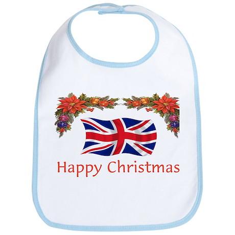 British Happy Christmas Bib