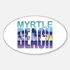 Myrtle Beach Oval Decal
