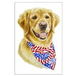 Mel Golden Retriever Poster