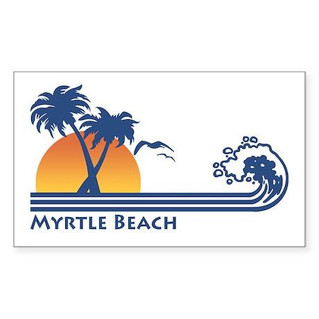 Myrtle Beach Rectangle Sticker
