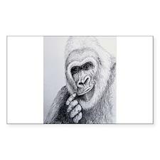 Gorilla Rectangle Decal
