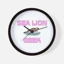 Sea Lion Geek Wall Clock