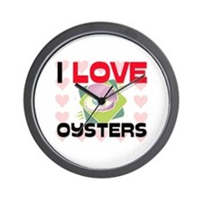I Love Oysters Wall Clock