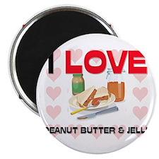 I Love Peanut Butter & Jelly Magnet