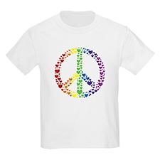 Rainbow Hearts Peace T-Shirt