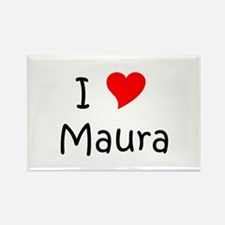 Cute I love maura Rectangle Magnet
