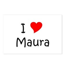 Cute I love maura Postcards (Package of 8)