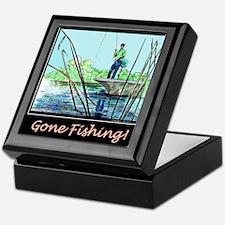 Gone Fishing 2 Keepsake Box