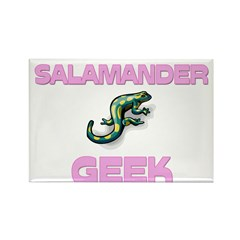Salamander Geek Rectangle Magnet