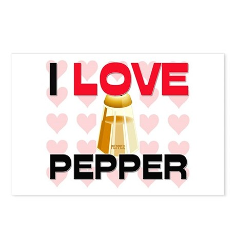 I Love Pepper Postcards (Package of 8)